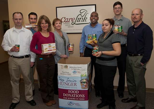 CareLink staff donating to Stop Senior Hunger