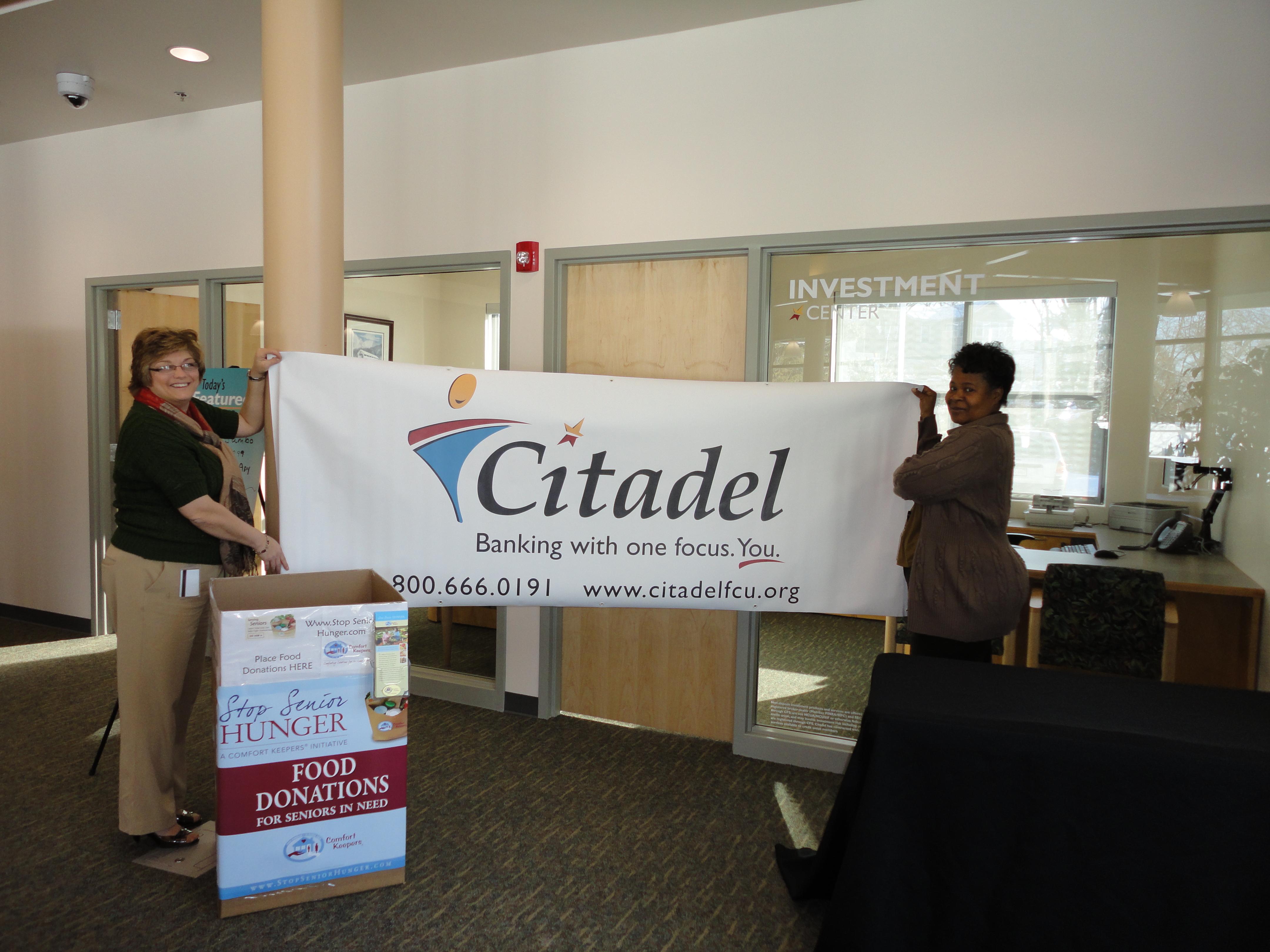Citadel Credit Union Joins Comfort Keepers Feed Seniors